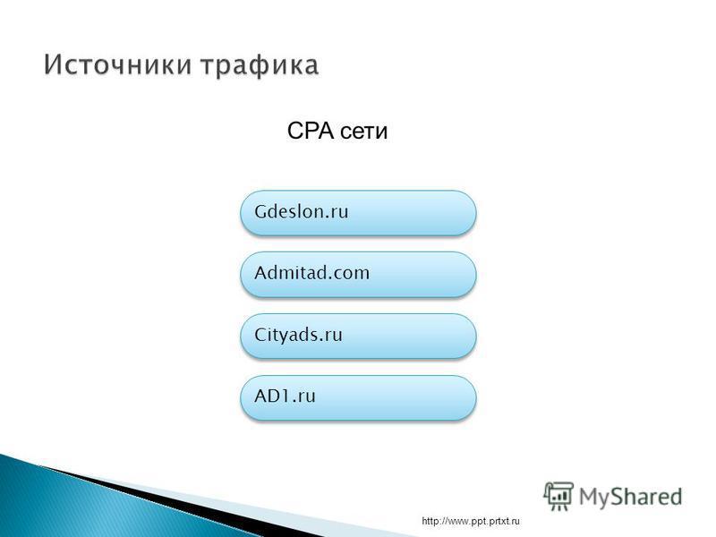 http://www.ppt.prtxt.ru CPA сети Admitad.com Cityads.ru AD1. ru Gdeslon.ru