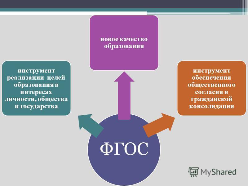ФГОС инструмент реализации целей образования в интересах личности, общества и государства новое качество образования инструмент обеспечения общественного согласия и гражданской консолидации