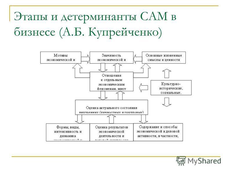 Этапы и детерминанты САМ в бизнесе (А.Б. Купрейченко)