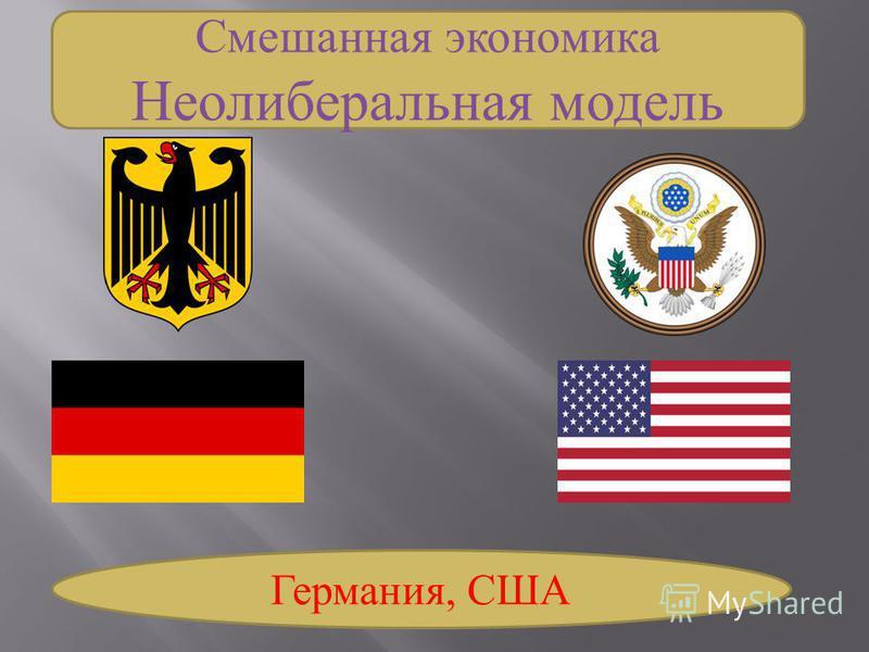 Смешанная экономика Неолиберальная модель Германия, США