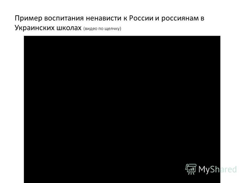 Пример воспитания ненависти к России и россиянам в Украинских школах (видео по щелчку)