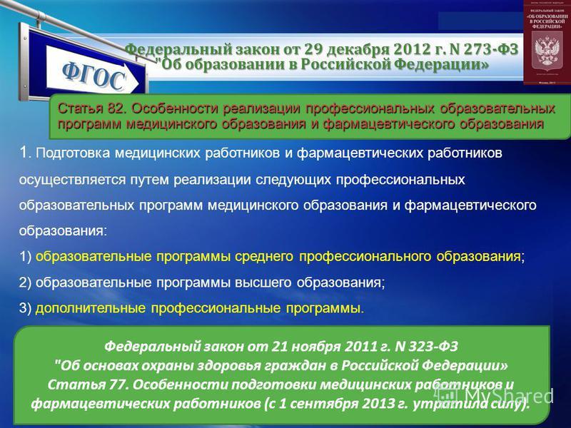 LOGO www.themegallery.com Федеральный закон от 29 декабря 2012 г. N 273-ФЗ