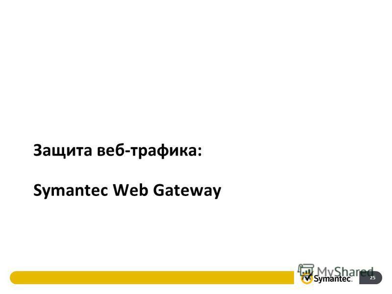 25 Защита веб-трафика: Symantec Web Gateway