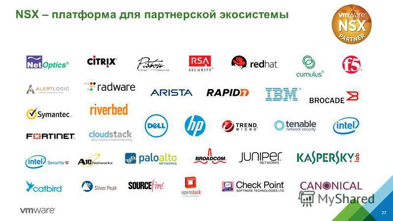 NSX – платформа для партнерской экосистемы 27