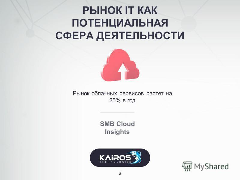 РЫНОК IT КАК ПОТЕНЦИАЛЬНАЯ СФЕРА ДЕЯТЕЛЬНОСТИ 6 SMB Cloud Insights Рынок облачных сервисов растет на 25% в год