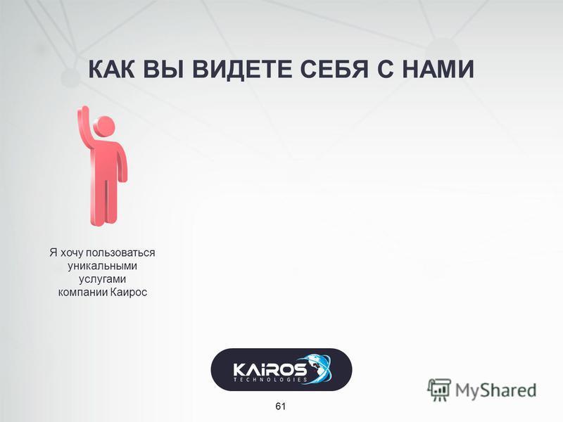 КАК ВЫ ВИДЕТЕ СЕБЯ С НАМИ 61 Я хочу пользоваться уникальными услугами компании Каирос