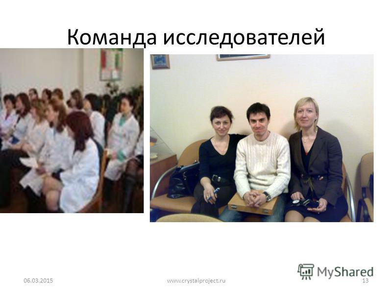 Команда исследователей 06.03.2015www.crystalproject.ru13