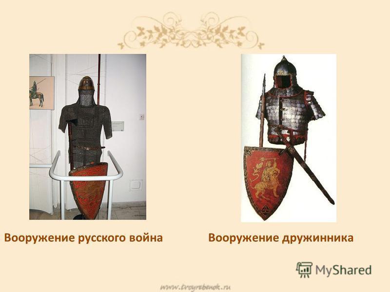 Вооружение русского война Вооружение дружинника