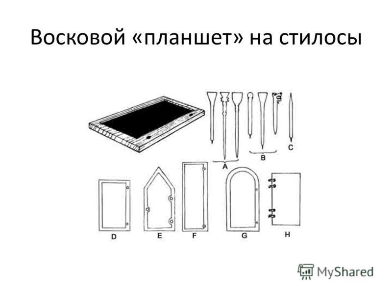 Восковой «планшет» на стилусы