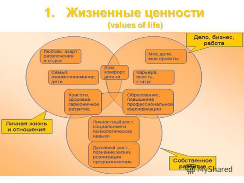 1. Жизненные ценности (values of life) 24