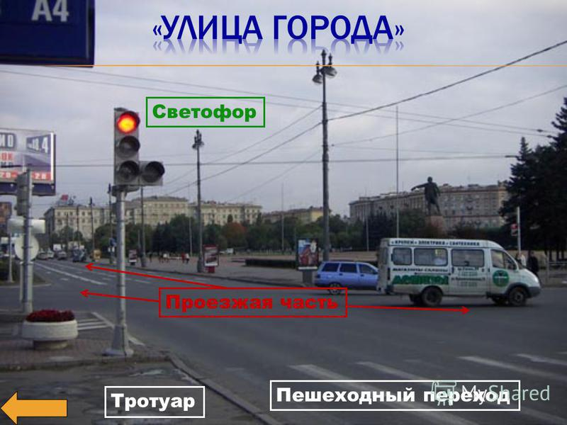 Тротуар Проезжая часть Пешеходный переход