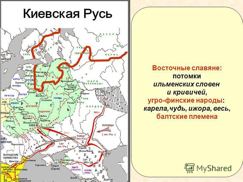 Восточные славяне: потомки ильменских словен и кривичей, угро-финские народы: карела,чудь, ижора, весь, балтские племена