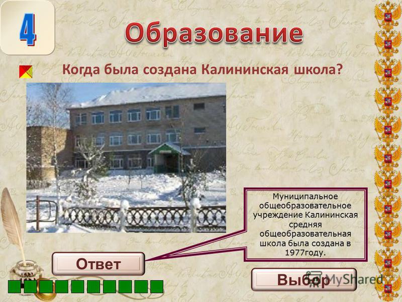 Михайловская средняя школа была построена в 1978 году. С 1 сентября 1979 года школа объединила две восьмилетние школы, расположенные в поселках Еловое и Приозерное, и была преобразована в Михайловскую среднюю общеобразовательную школу. В марте 2008 г