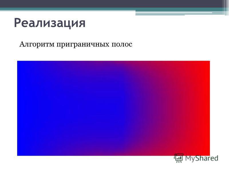 Реализация Алгоритм приграничных полос