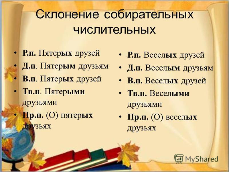 Выберите и запишите словосочетания, в которых существительное может сочетаться с собирательным числительным