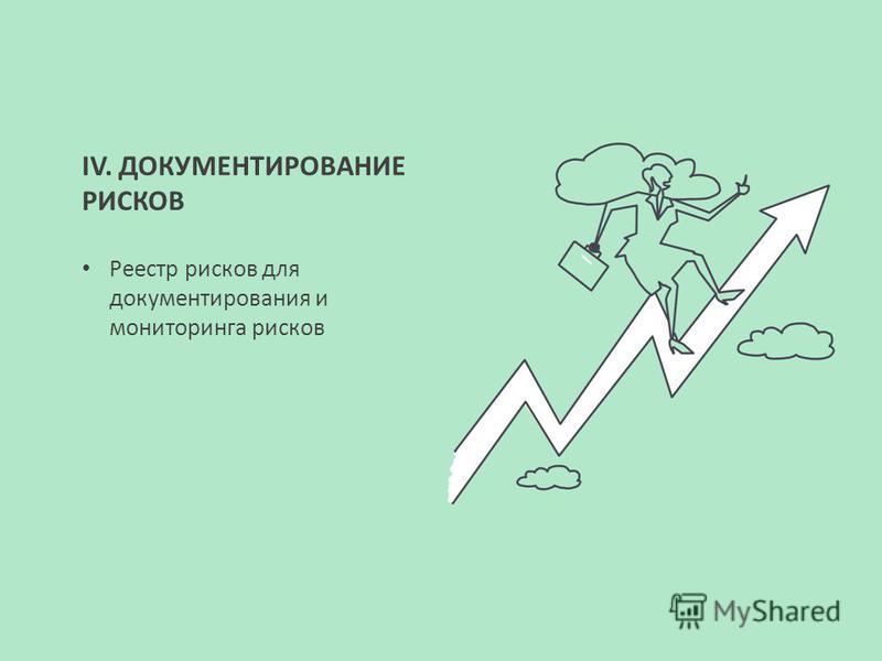 IV. ДОКУМЕНТИРОВАНИЕ РИСКОВ Реестр рисков для документирования и мониторинга рисков