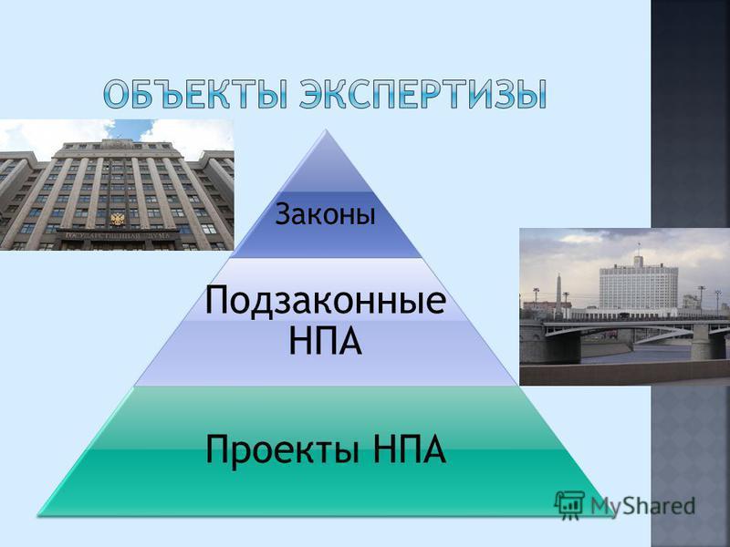 Законы Подзаконные НПА Проекты НПА