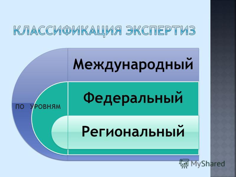 Международный Федеральный Региональный ПО УРОВНЯМ