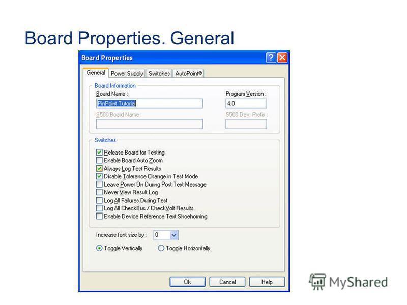 Board Properties. General