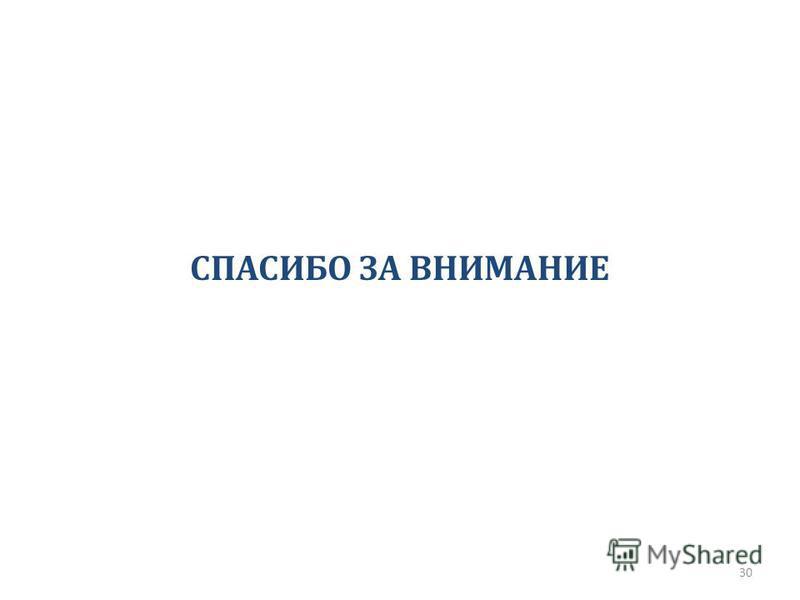 СПАСИБО ЗА ВНИМАНИЕ 30