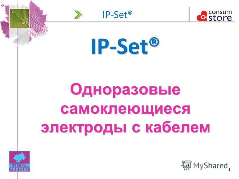 1 IP-Set® Одноразовые самоклеющиеся электроды с кабелем IP-Set®