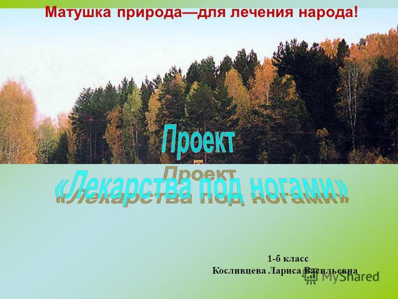 Матушка природа для лечения народа! 1-б класс Косливцева Лариса Васильевна