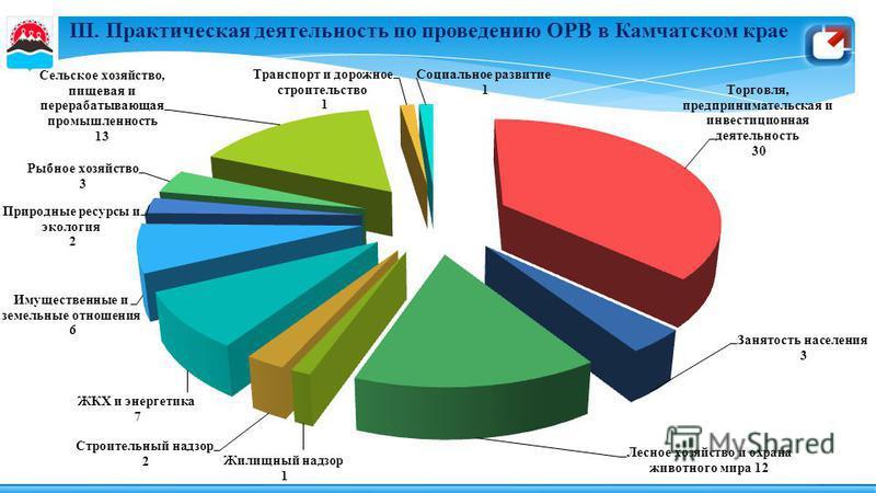III. Практическая деятельность по проведению ОРВ в Камчатском крае