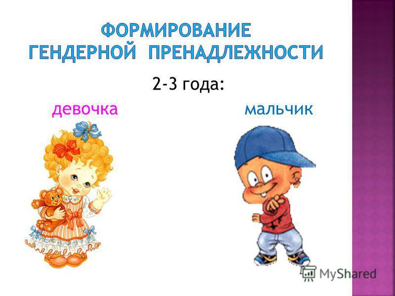 2-3 года: девочка мальчик