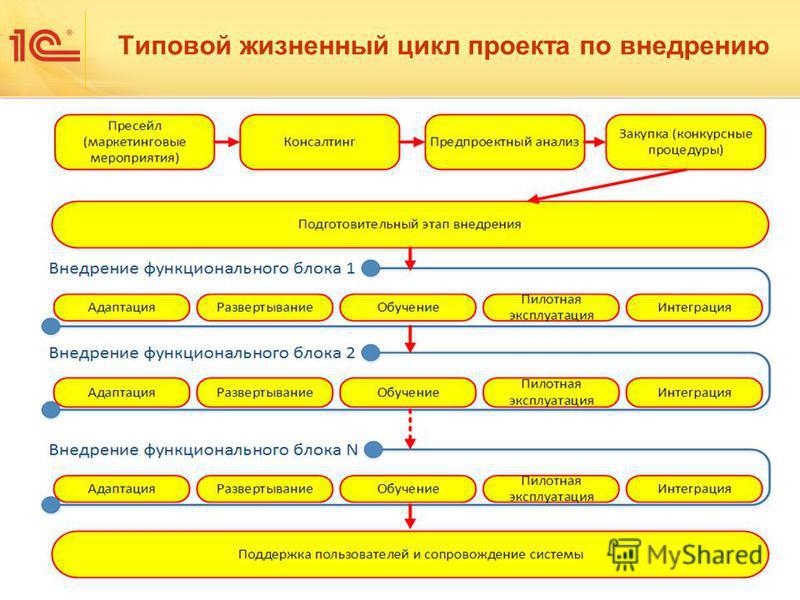 Типовой жизненный цикл проекта по внедрению