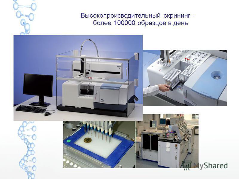 Высокопроизводительный скрининг - более 100000 образцов в день