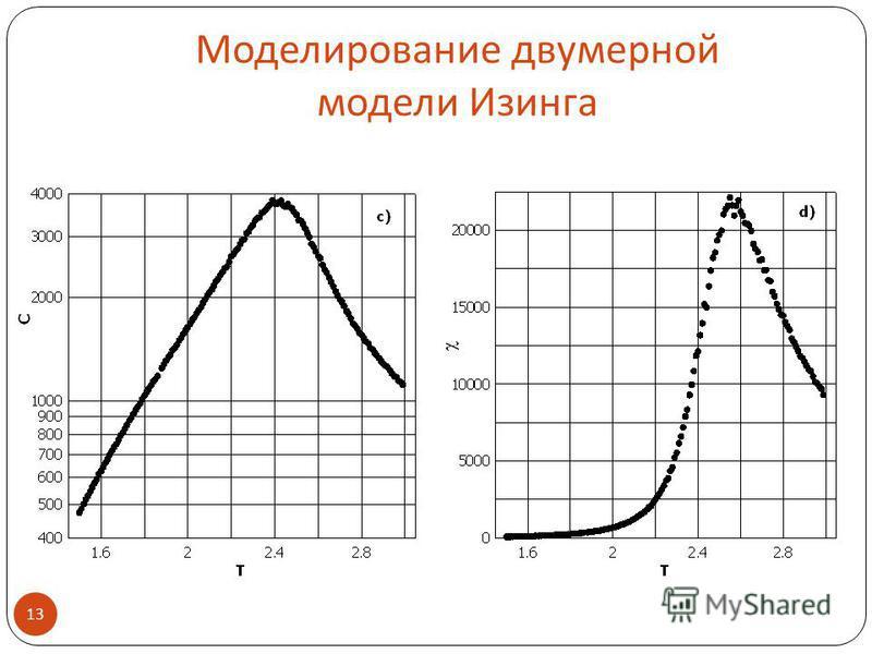 Моделирование двумерной модели Изинга 13