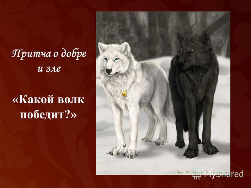 Притча о добре и зле «Какой волк победит?»