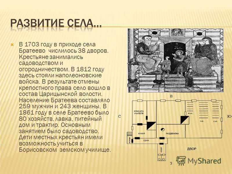 Рядом с Борисовскими прудами из земли вырывались целебные источники (отсюда Ключевая улица). Жители занимались земледелием, ремеслами, рыболовством (это отражено в гербе Братеева), в то время в реке Москве и Городне, между которыми расположен район,