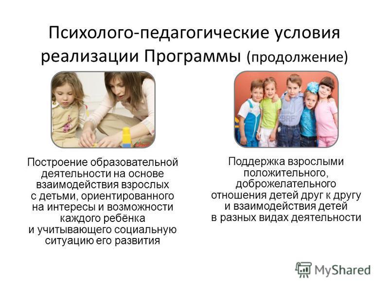 12 Построение образовательной деятельности на основе взаимодействия взрослых с детьми, ориентированного на интересы и возможности каждого ребёнка и учитывающего социальную ситуацию его развития Поддержка взрослыми положительного, доброжелательного от