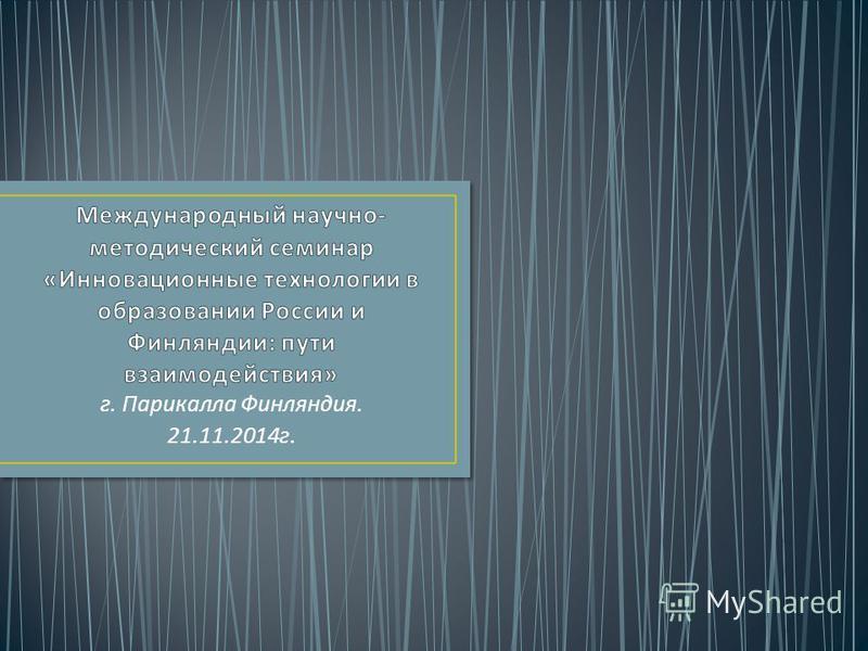 г. Парикалла Финляндия. 21.11.2014 г.