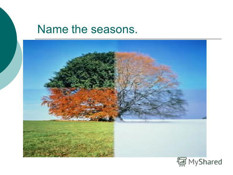 Name the seasons.