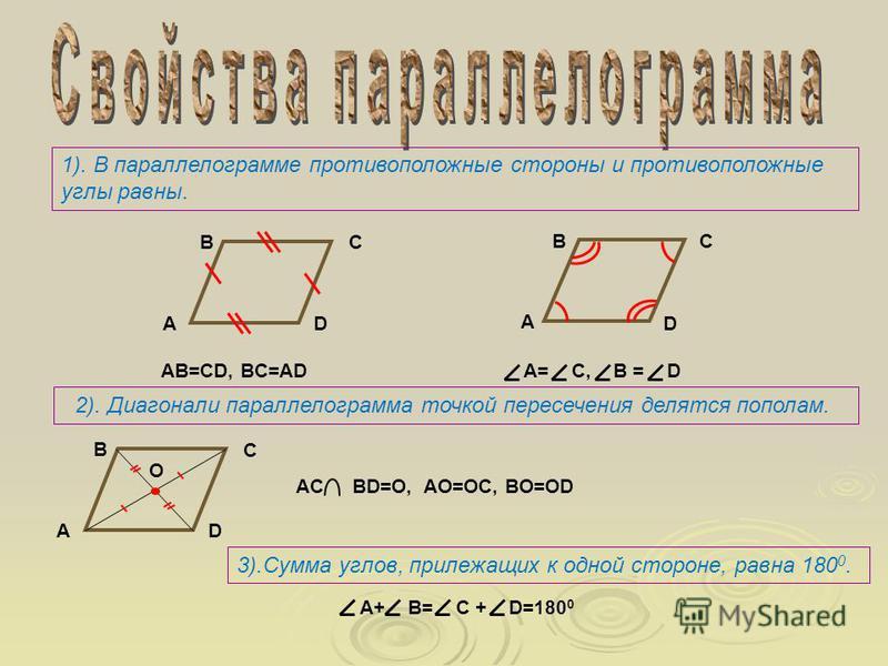 А В С D Трапецией называется четырёхугольник, у которого две стороны параллельны, а две другие нет.(AD BC,AB CD) Частные случаи основания боковые стороны Признаки Свойства прямоугольная равнобедренная