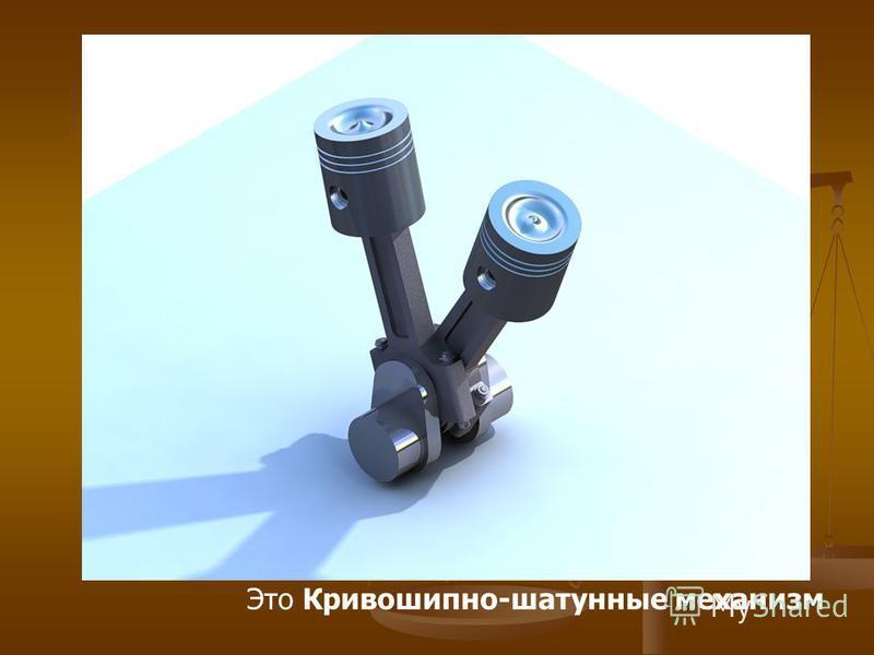 Это Кривошипно-шатунные механизм