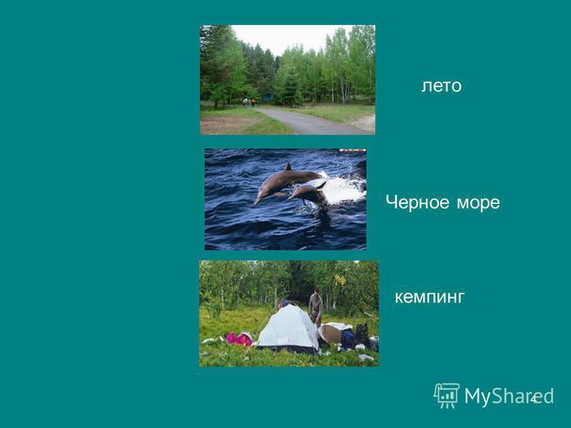 4 лето Черное море кемпинг