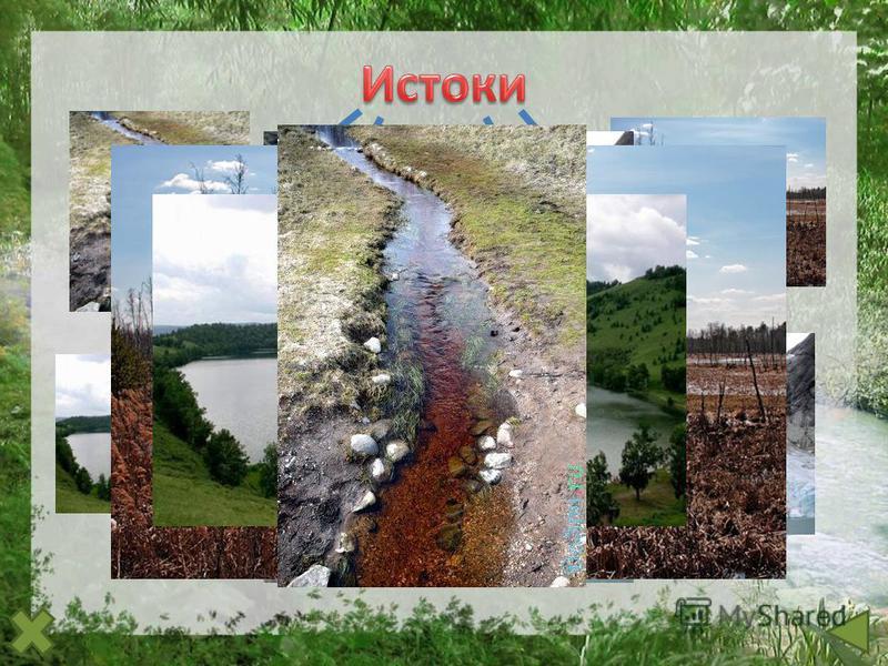 родник р. Волга озеро р. Ангара болото р. Москва ледник р. Терек слияние рек