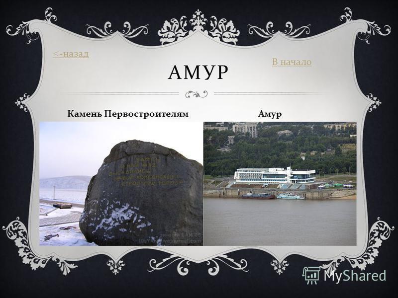 АМУР Камень Первостроителям Амур