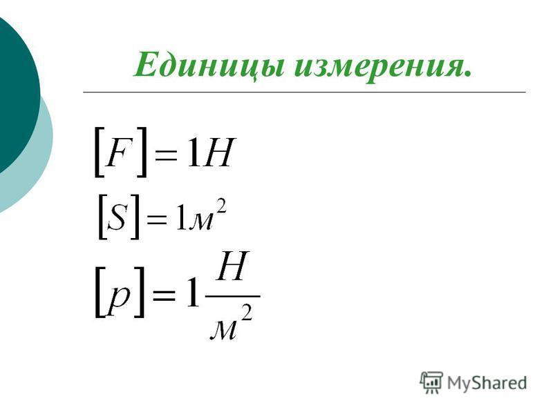 Единицы измерения.