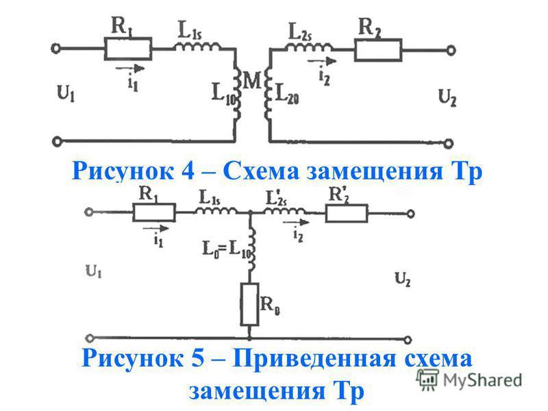 Рисунок 4 – Схема замещения Тр Рисунок 5 – Приведенная схема замещения Тр