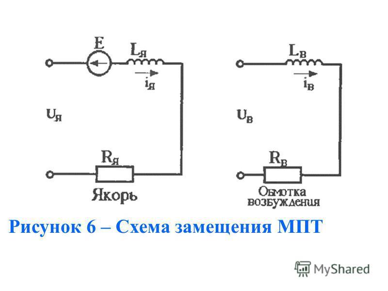 Рисунок 6 – Схема замещения МПТ