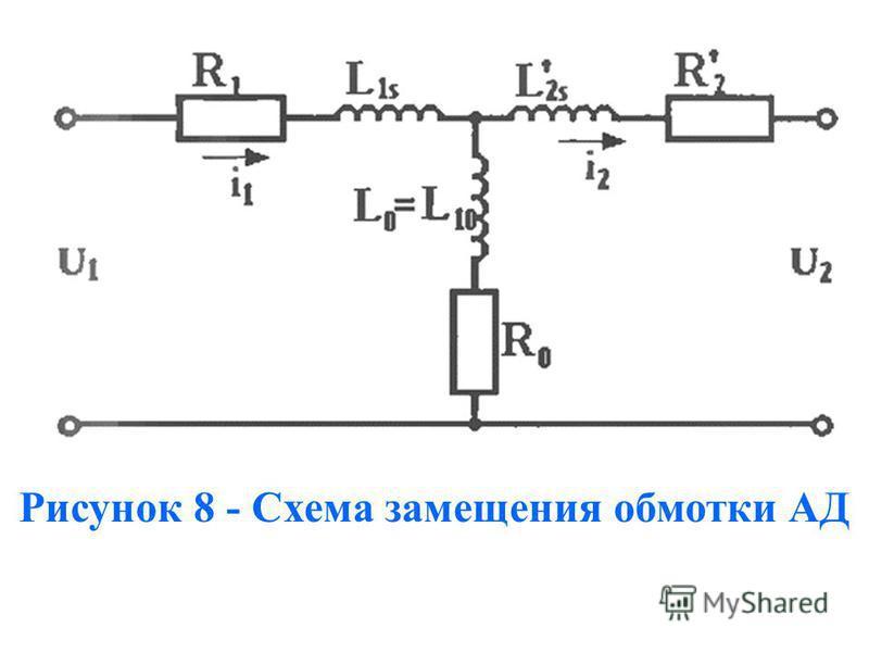 Рисунок 8 - Схема замещения обмотки АД