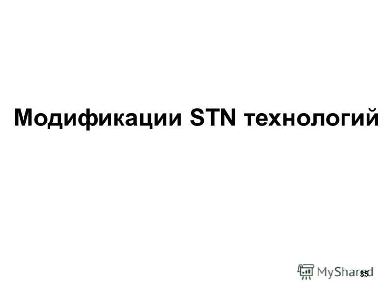 35 Модификации STN технологий