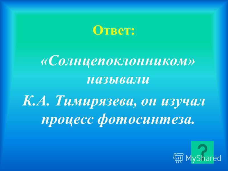 Кого из русских ученых называли «солнцепоклонником» и почему?