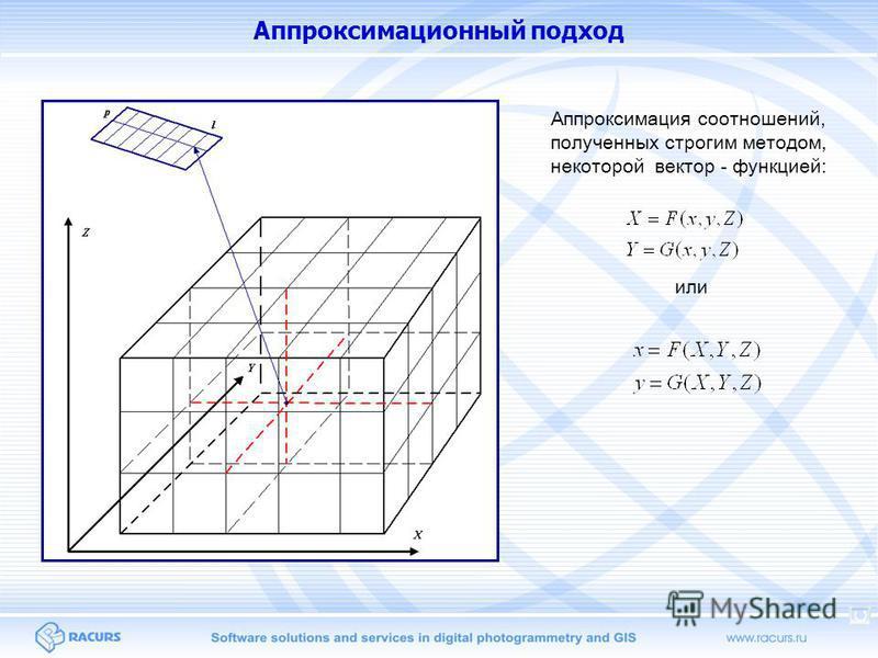 Аппроксимационный подход Аппроксимация соотношений, полученных строгим методом, некоторой вектор - функцией: или