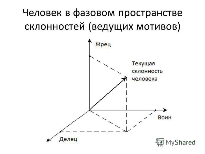 Человек в фазовом пространстве склонностей (ведущих мотивов)