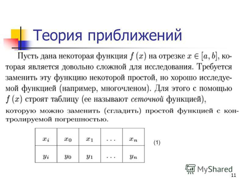 11 Теория приближений (1)